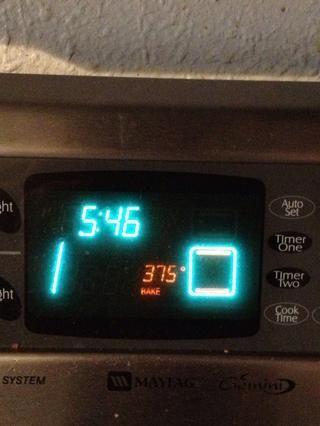 Precaliente el horno a 375 F.