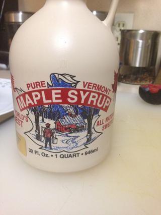 yo'm using dark amber maple syrup