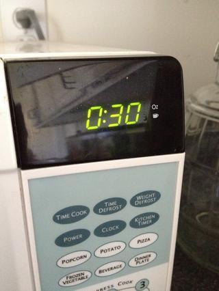 Microondas durante 30 segundos.