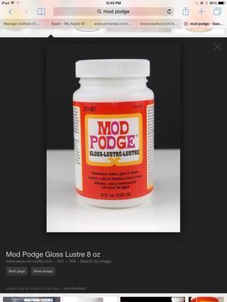 También tienen podge mod (no pegamento regular)