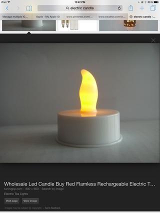 También obtener una vela falso o uno de verdad yo uso uno falso