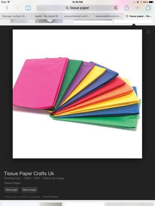 Obtener un pañuelo de papel de cualquier color