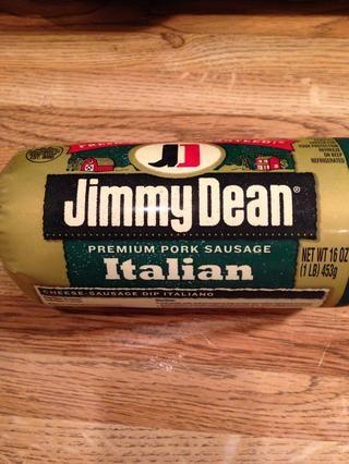 Me gusta usar Jimmy Dean salchicha italiana para un buen sabor, pero se puede utilizar cualquier tipo de salchicha que desea.