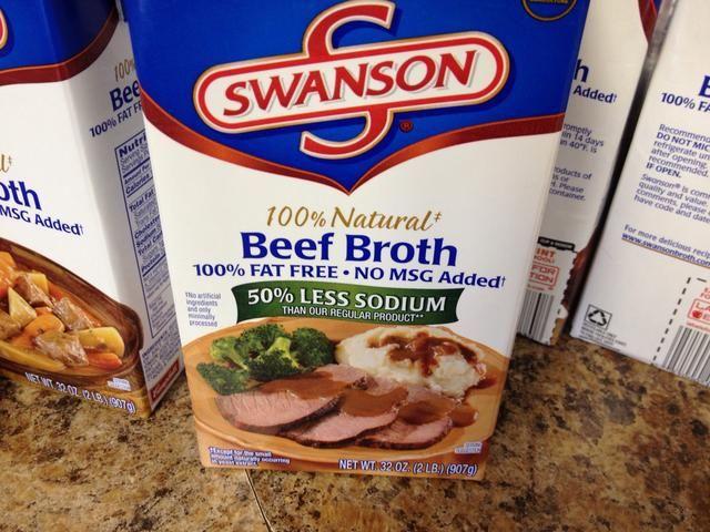64 oz de caldo de carne.