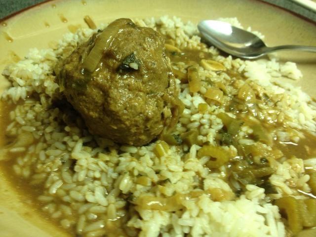 Auge. Servir sobre el arroz.