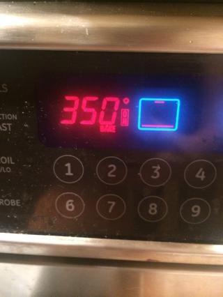 Precaliente el horno a 350