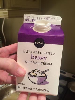 Añadir la crema de leche