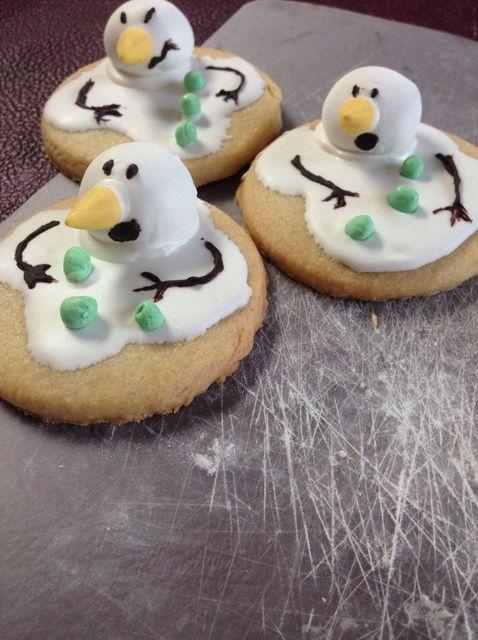 Cómo hacer Melting Snowman Receta de las galletas