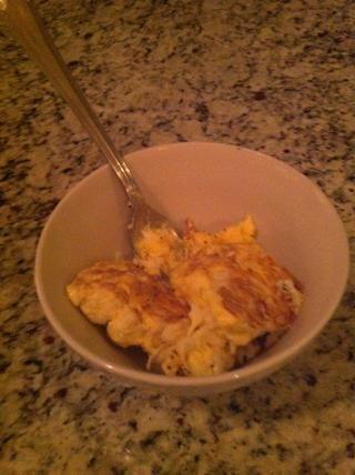 Los huevos en un tazón