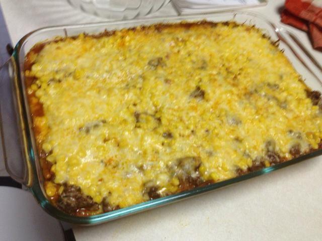Cubrir con el queso y hornear a 375 durante 25 minutos.