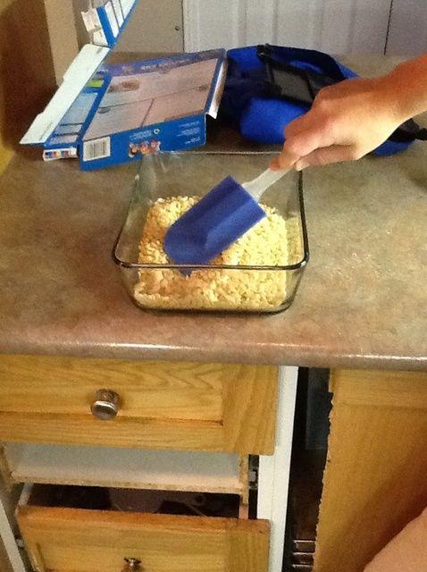 Cómo hacer Cuadrados Microondas Rice Krispies Receta
