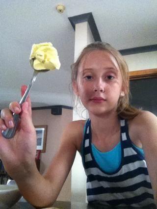 Ahora añada su mantequilla no se mezclan una vez que've added butter