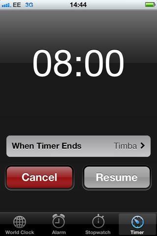 Establecer un temporizador durante 8 minutos.