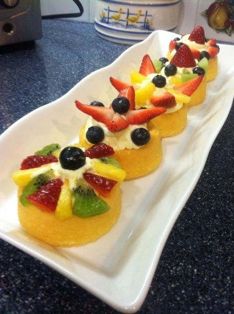 Cómo hacer Mini tartas de frutas con crema de mascarpone Receta