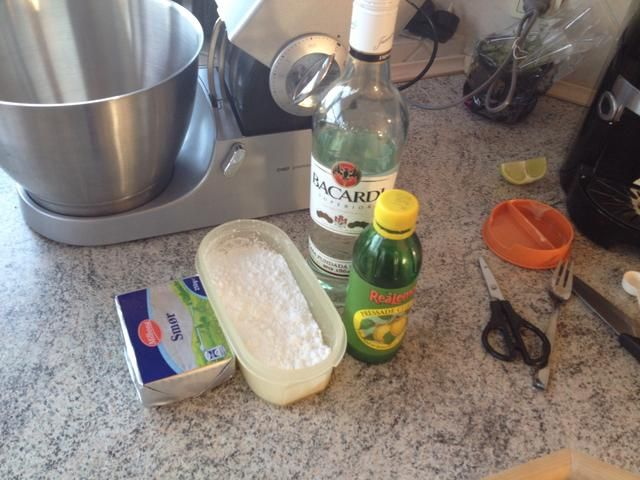 Ingrediens para el glaseado
