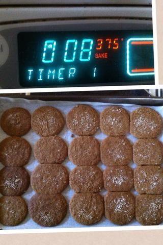 Coloque en el horno durante 8-10 minutos a 375 grados Fahrenheit. Yo al horno mina durante 8 minutos ...... Resultaron gran ??????