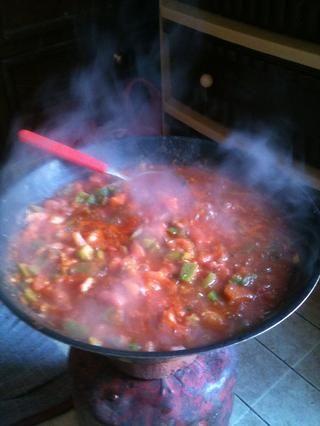 Así que eso es todo la ensalada caliente marroquí