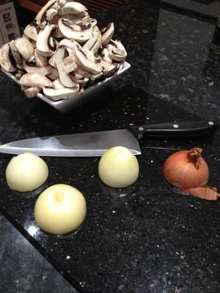 Picar las cebollas