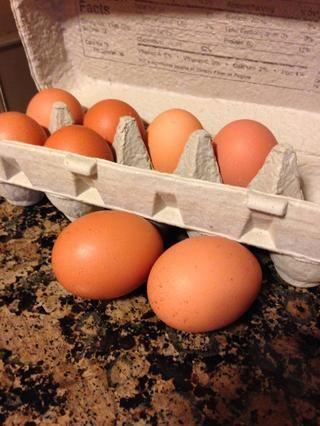 Dos huevos orgánicos