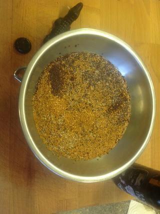 Cubra las semillas de mostaza