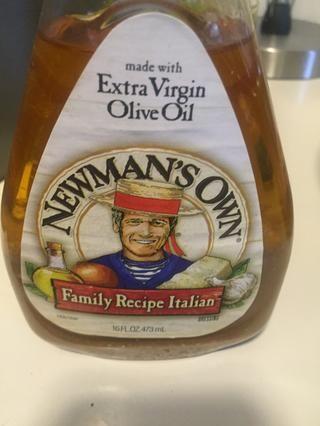 Utilice vestidor o aceite y vinagre italiano
