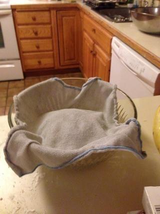Cubrir con un paño húmedo y dejar reposar durante una hora
