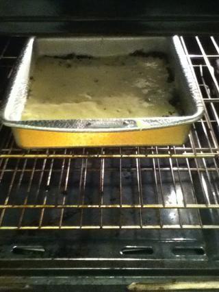Y lo puso en el horno. FIR otros 10 minutos