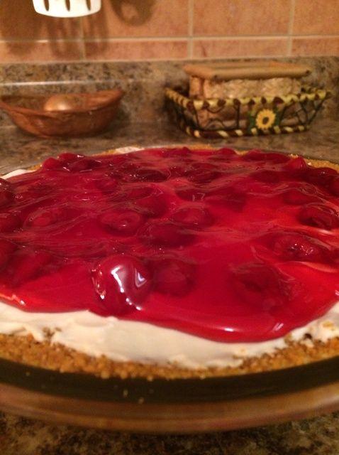 Cómo hacer ninguna cuece al horno la cereza de la torta de queso Receta