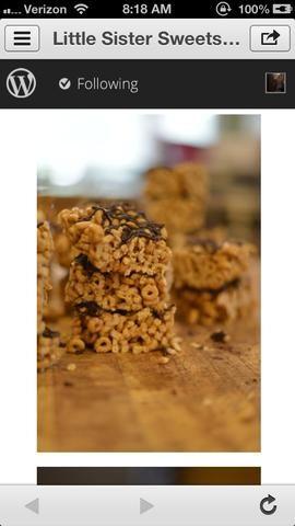 Echa un vistazo a estos! He utilizado la misma receta, pero puse cerca de 12 tazas de Cheerios en vez de chex! :) ¡muy muy bien!