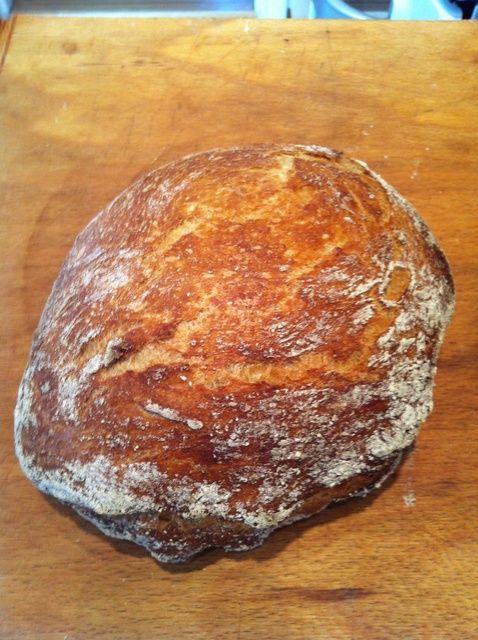 Cómo hacer No Amasar Receta del pan
