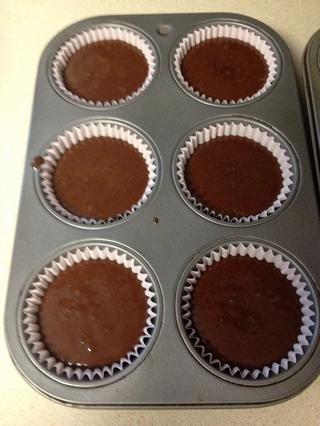 La media de recetas hizo ocho cupcakes. Ahora se adhieren en el horno durante 18-20 minutos. Estos sólo tomó 18 minutos para hornear
