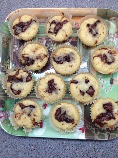 Cómo hacer Nutella Lleno Muffins Receta