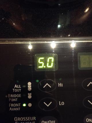 Y a continuación, gire la temperatura a medio o 0.5