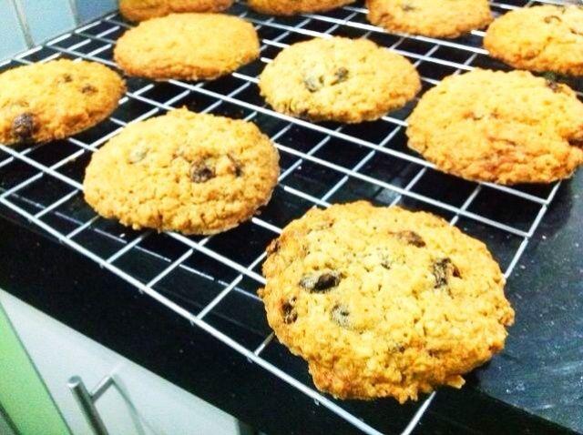 Cómo hacer harina de avena pasas cookies Receta