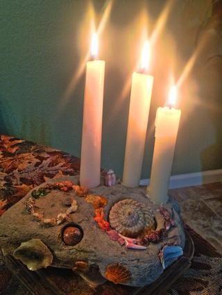 Y ahora usted puede encender y disfrutar de su candelabros arte del océano!