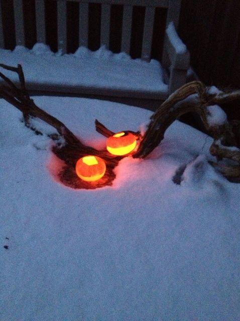 Cómo hacer que las luces de petróleo en una Mandarín Peel