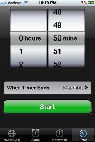 Comience el temporizador de 50 minutos!