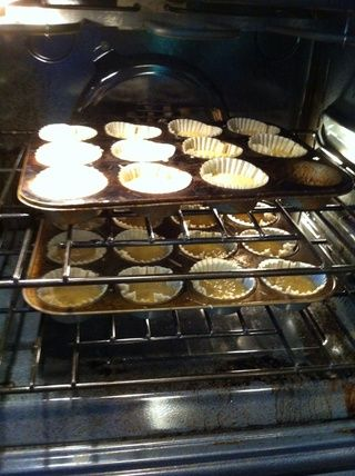 Hornear 350 • durante unos 22-27 minutos. Empezar a probar en alrededor de 20. Usted don't want to over bake.