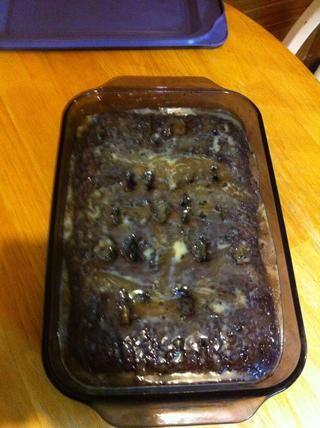 Dale tiempo para absorber y para el pastel para terminar de enfriamiento. En el momento en que comimos la cena, que estaba listo!