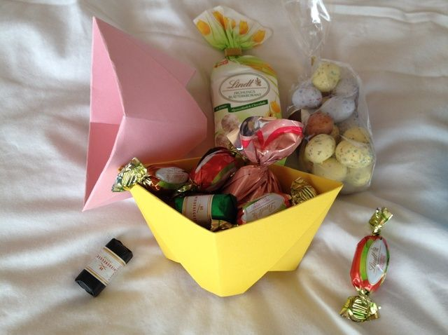 Cómo hacer cestas de Pascua Origami