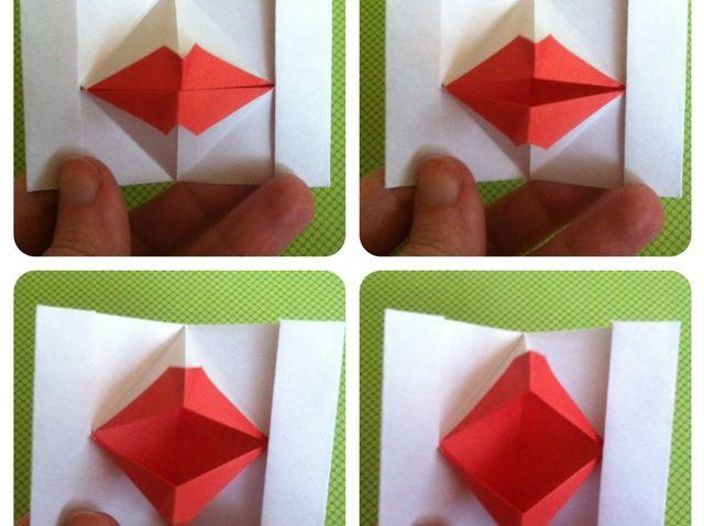 Cómo hacer que los labios de Origami Títeres (Besar labios)