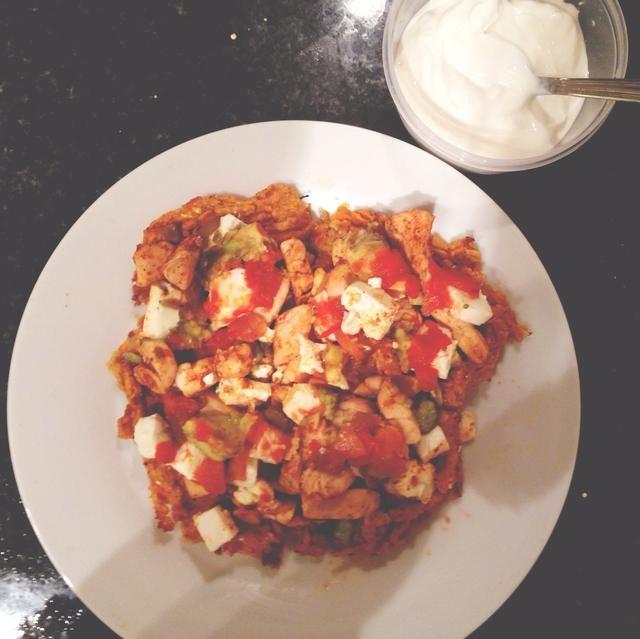 Sacar del horno y servir con yogur griego o quark. ¿¿¿¿¿¿Disfrutar??????