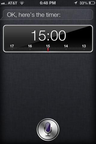 Ajuste el temporizador de 15 minutos. Me gusta usar siri, porque soy perezoso. ??????