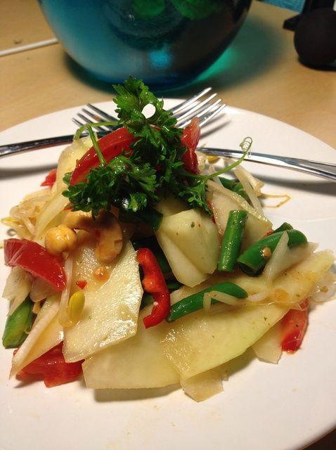 Cómo hacer ensalada de papaya Sin Pescado Salsa Receta