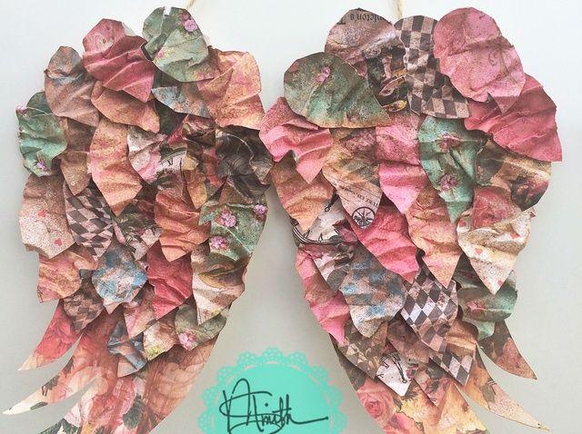 Cómo hacer papel alas del ángel Con Marion Smith Designs