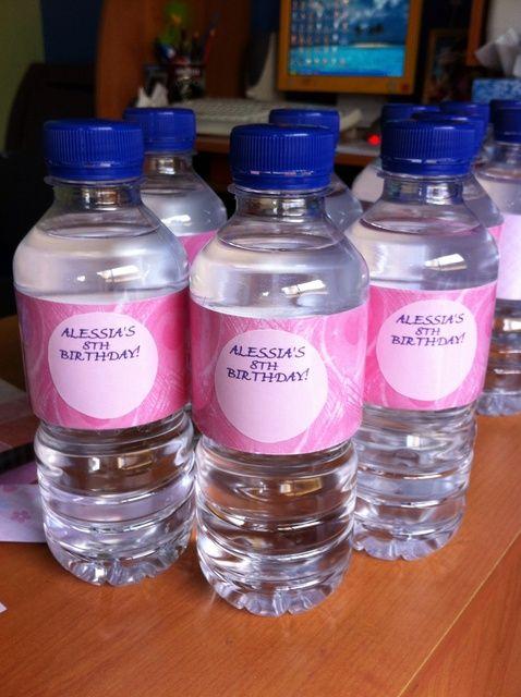 Cómo hacer etiquetas de botellas de agua Partido