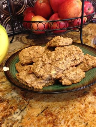 Entonces sonreír porque usted acaba de hacer unas galletas sin gluten, sin azúcar o mantequilla! :) Delicia saludable. Genial para el desayuno!