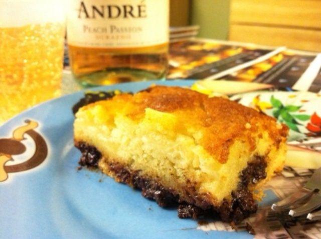 Cómo hacer pera y pastel de chocolate Receta
