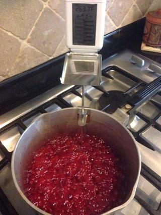 Mezcla a 260 grados Fahrenheit. No deje mezcla mientras se cocina a la temperatura salta muy rápido y se quema rápidamente.