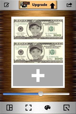 Añadir su dinero fotografía para cada ranura.
